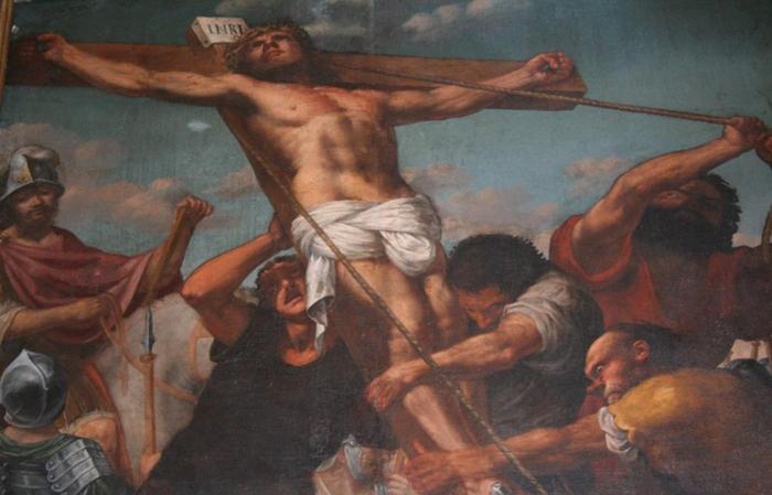 Chiesa di San Felice: dipinto crocifisso