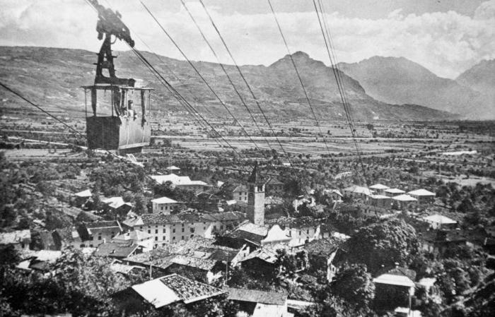 Zambana Vecchia: immagine d'epoca. Foto Proloco Zambana