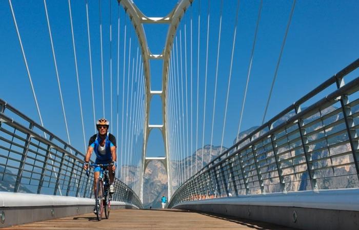 San Michele all'Adige ponte sulla ciclabile